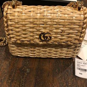 54697864e5f Gucci Bags - Gucci Linea Cestino mini web straw bag